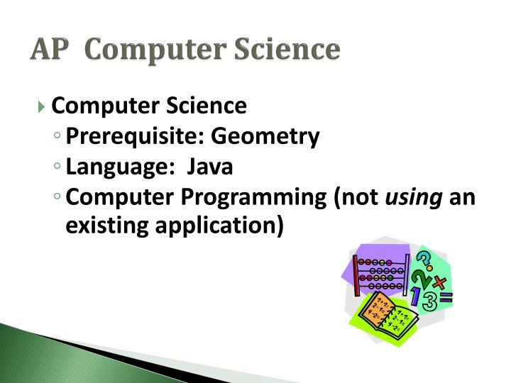 AP  Computer Science