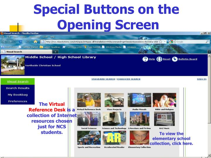 Special Buttons on the