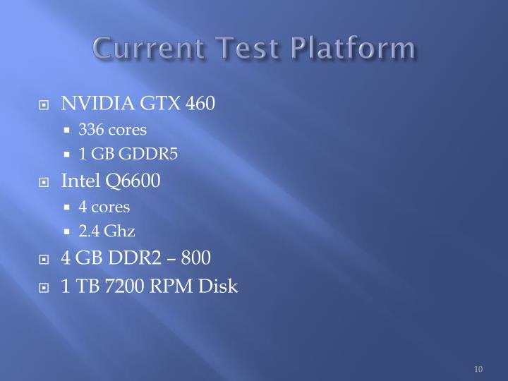 Current Test Platform