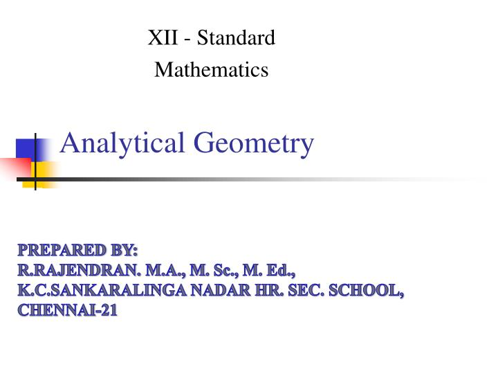 analytical geometry n.