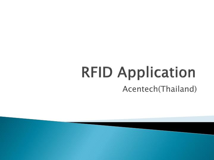 rfid application n.