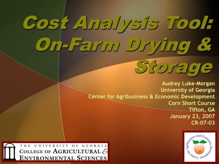 cost analysis tool on farm drying storage n.
