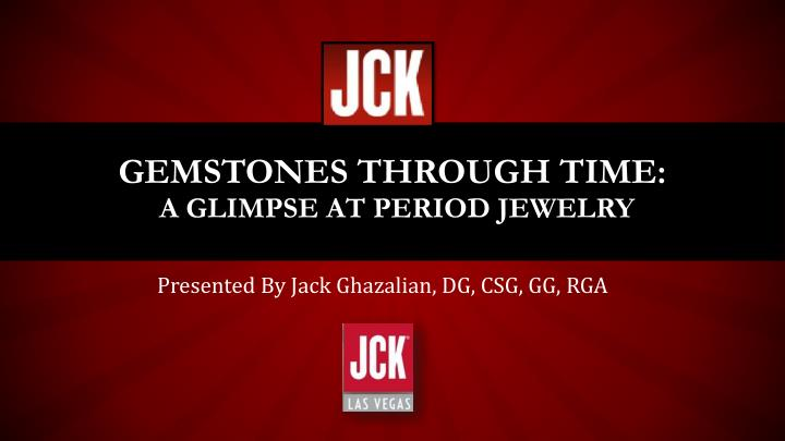 gemstones through time a glimpse at period jewelry n.