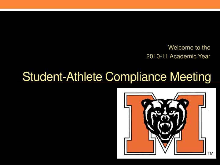 student athlete compliance meeting n.