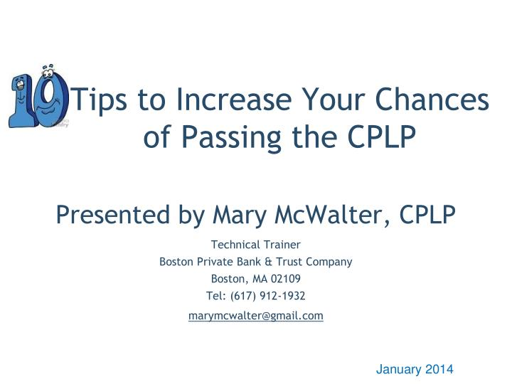 tips to increase your chances of passing the cplp n.