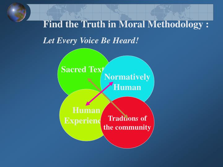 Find the Truth in Moral Methodology :
