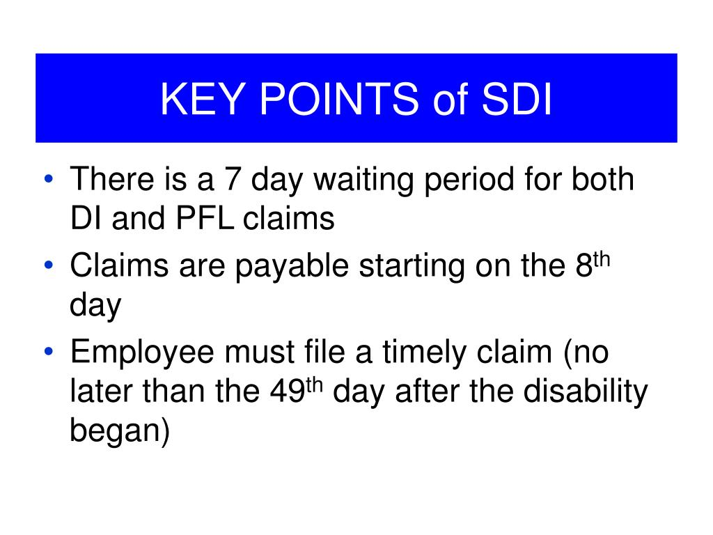 PPT - California State Disability Insurance: Disability ...