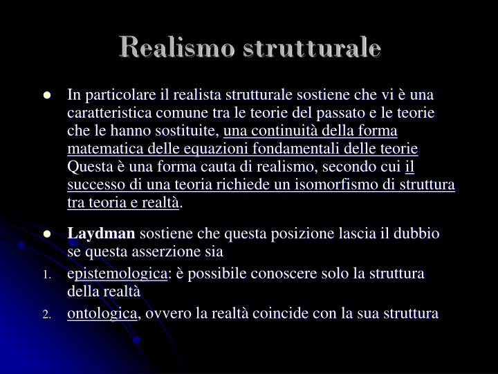 Realismo strutturale