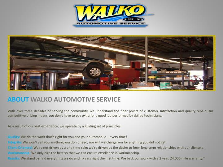 About walko automotive service
