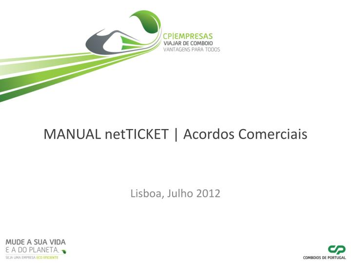 manual netticket acordos comerciais n.