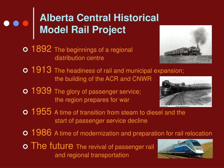 Alberta Central Historical