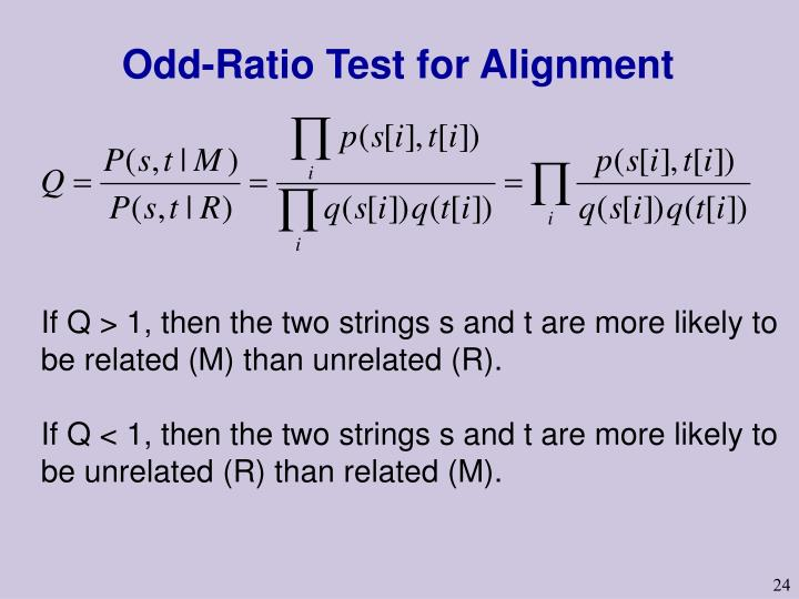 Odd-Ratio Test for Alignment