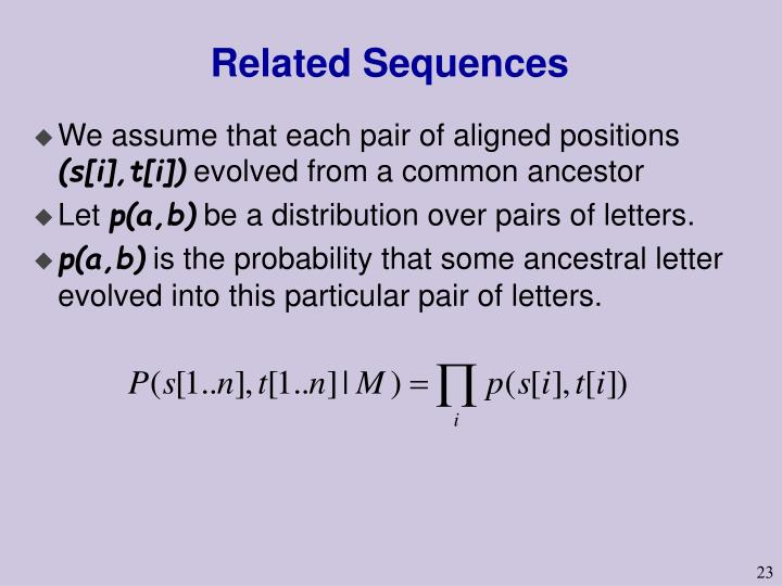 Related Sequences