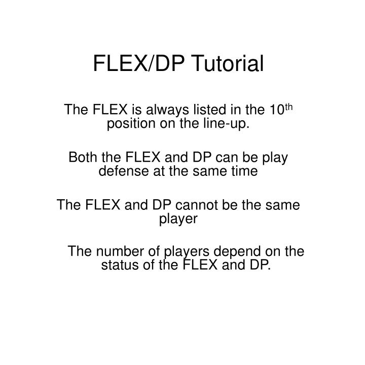 flex dp tutorial n.
