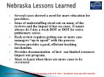 nebraska lessons learned