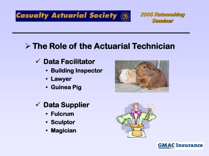 The Role of the Actuarial Technician