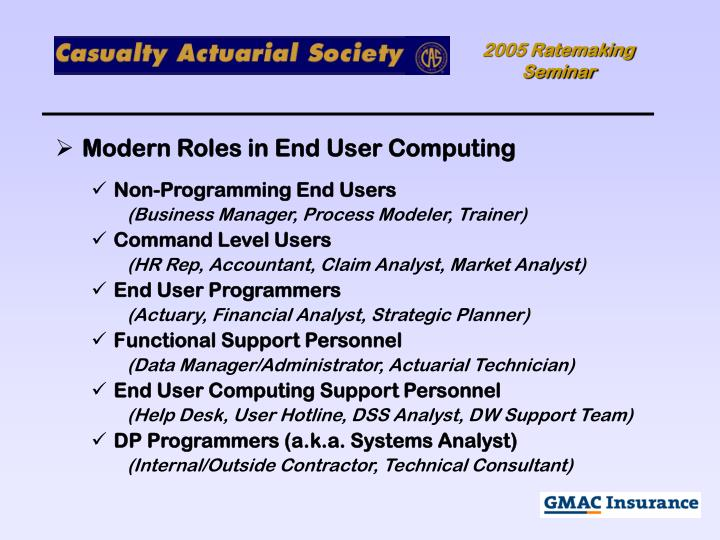 Modern Roles in End User Computing