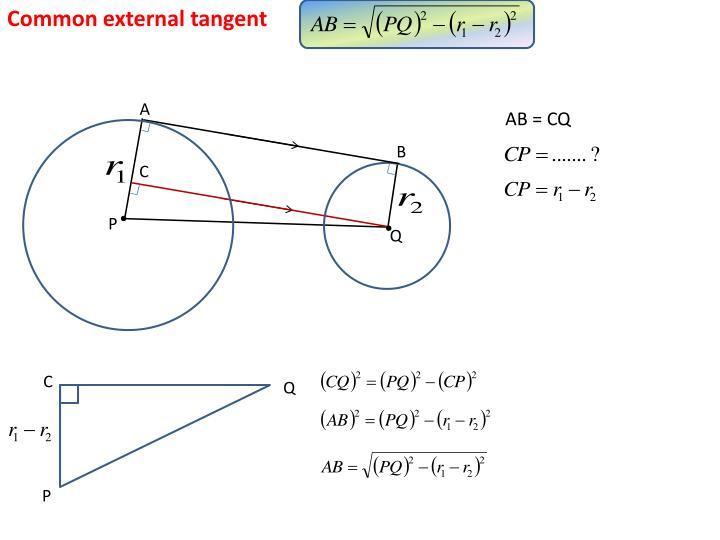 Common external tangent