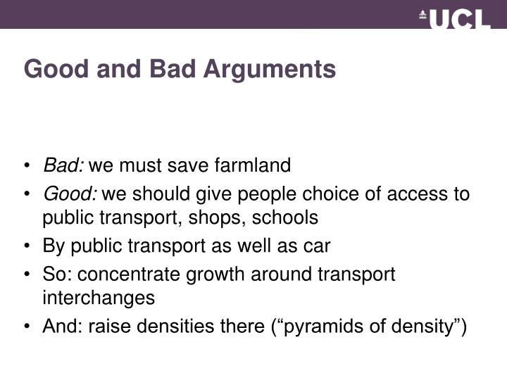 Good and Bad Arguments