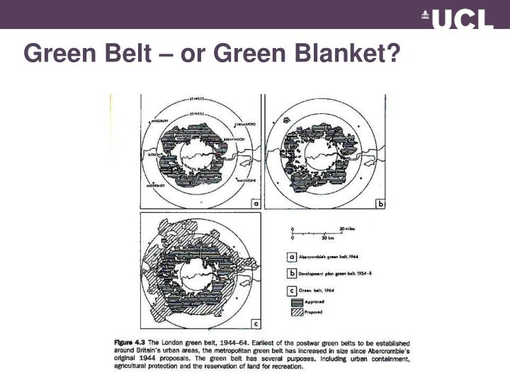 Green Belt – or Green Blanket?