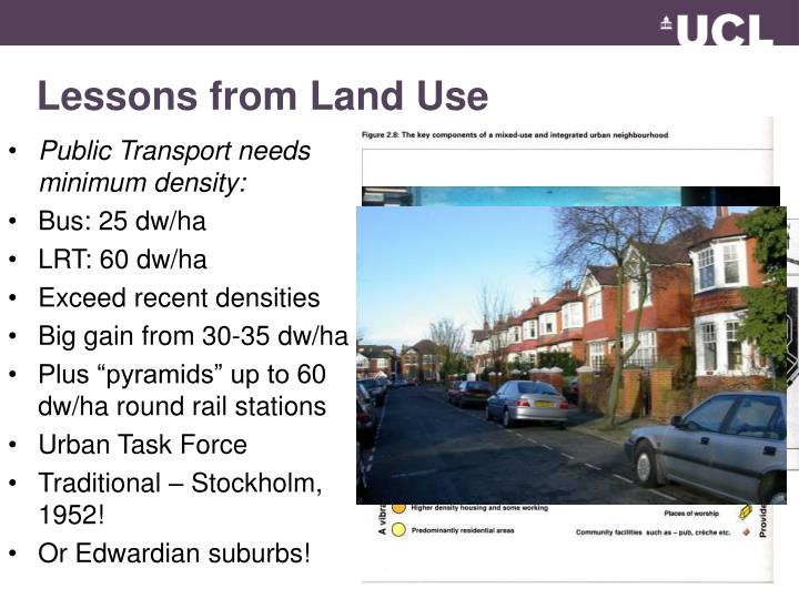 Lessons from Land Use