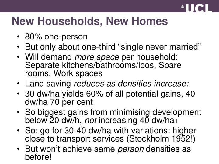 New Households, New Homes