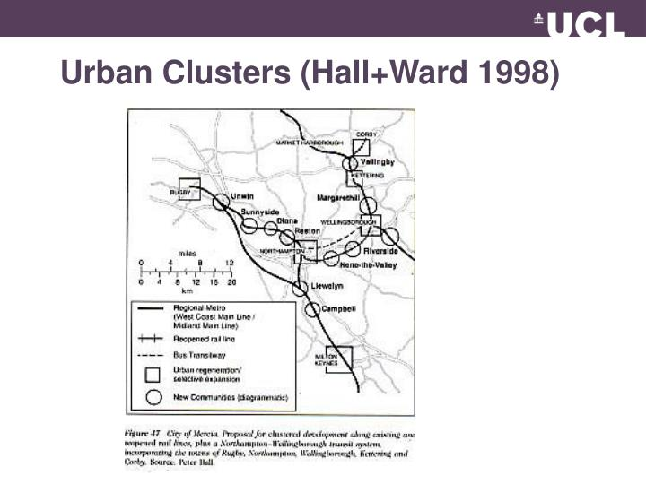 Urban Clusters (Hall+Ward 1998)