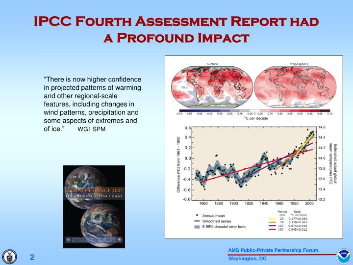 Ipcc fourth assessment report had a profound impact