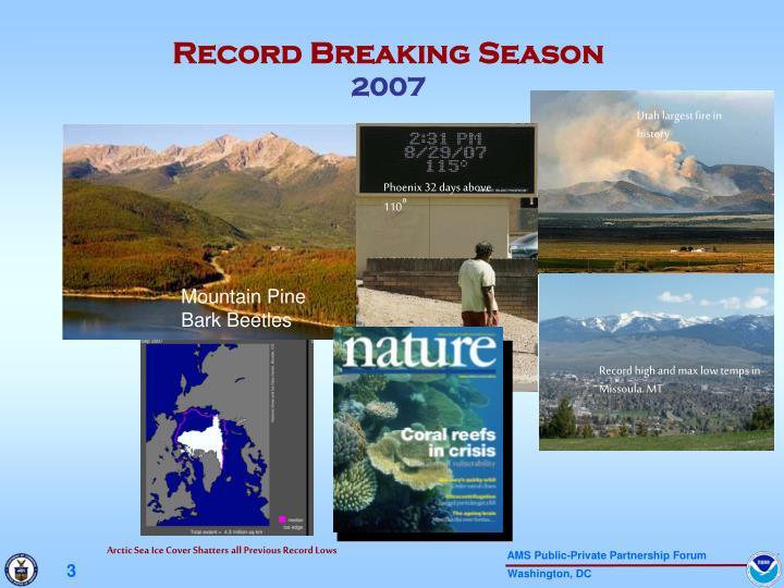 Record breaking season 2007