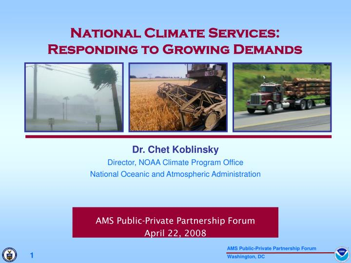 National Climate Services:
