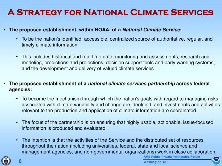 A Strategy for National Climate Services
