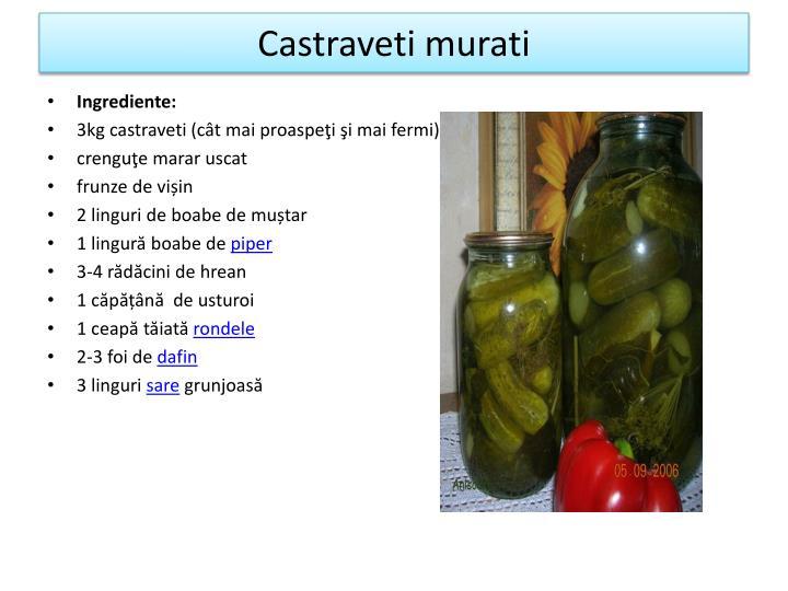 Castraveti murati