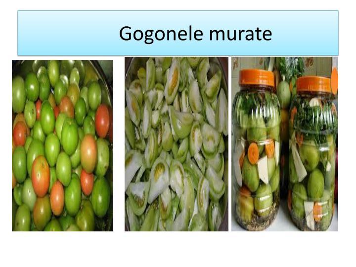 Gogonele murate