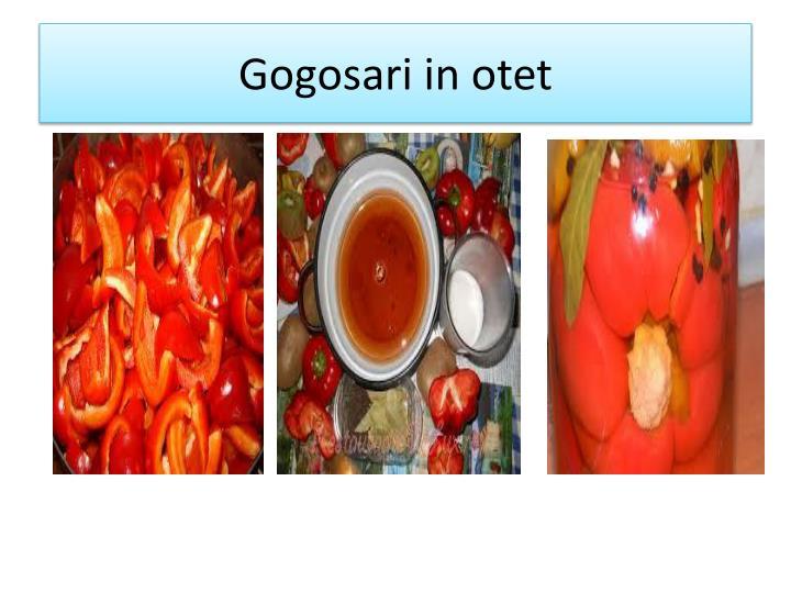 Gogosari in otet