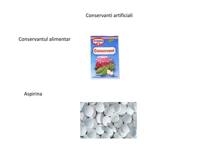 Conservanti artificiali