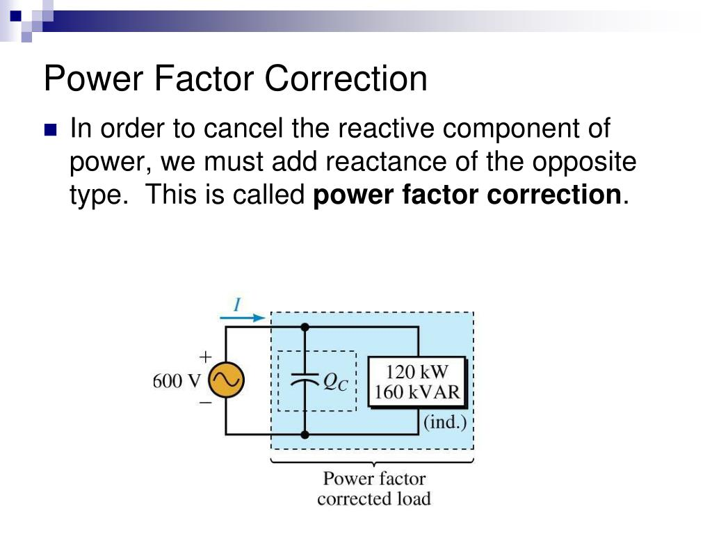PPT - Power Factor and Power Factor Correction PowerPoint