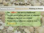 the great toe