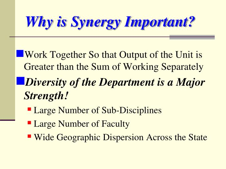 Why is Synergy Important?