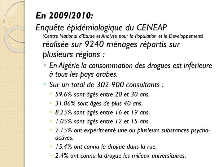 En 2009/2010: