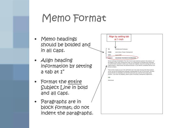 formatting memo