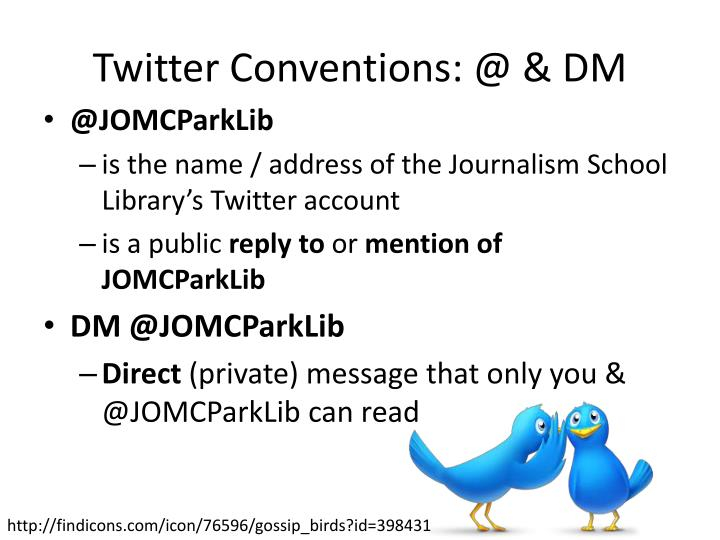 twitter conventions @ dm n.