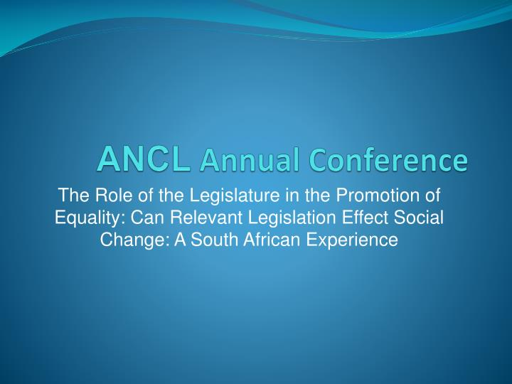 ancl annual conference n.