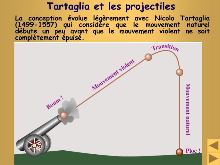 Tartaglia et les projectiles