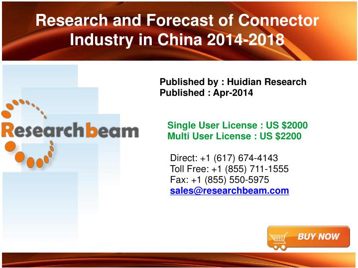 research and forecast of connector industry in china 2014 2018 n.