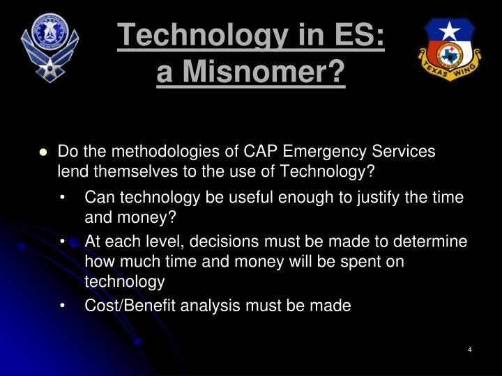 Technology in ES: