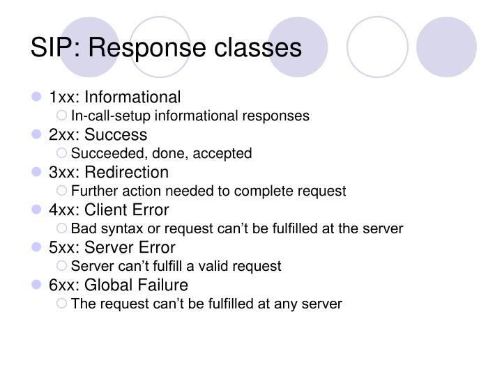 SIP: Response classes