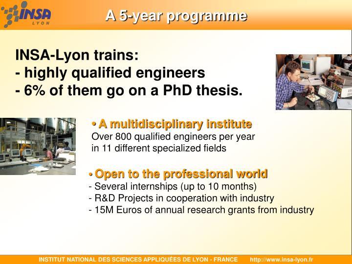 A 5-year programme