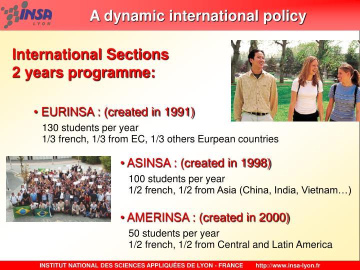 A dynamic international policy