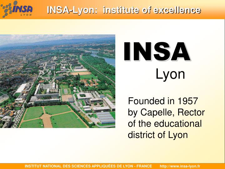 Insa lyon institute of excellence