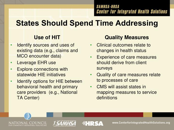 States Should Spend Time Addressing